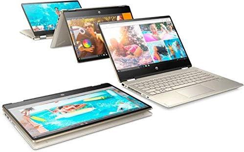 2020 HP Pavilion x360 2-in-1 Laptop Computer/ 14″ Full HD Touchscreen/ 10th Gen Intel Core i5-10210U Up to 4.1GHz/ 8GB DDR4 Memory/ 256GB PCIe SSD + 16GB Optane/ AC WiFi/ HDMI/ Gold/ Windows 10 41okcCMbn L