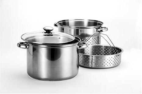 Amazon.com: Arcosteel 8 Quart - Juego de cocina (acero ...