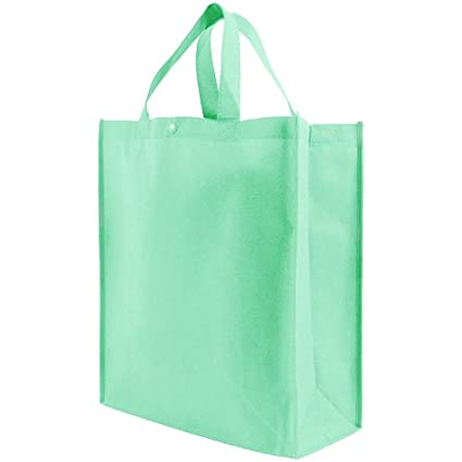 0b6ca30d64c0 Reusable Grocery Tote Bag Large 10 Pack - Mint Green