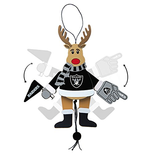 NFL Oakland Raiders Wooden Cheer Ornament