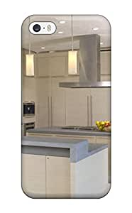 New Design Shatterproof OsnudDi4233RUUWK Case For Iphone 5/5s (modern Kitchen With Stainless Appliances Pendant Lights Amp White Floor)