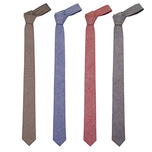 Jnjstella Cotton Solid Skinny Men's Necktie 2