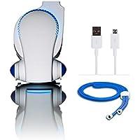 Stroller Fan by Cool On The Go - Bladeless Battery Operated Fan, Personal Fan, Portable Fan, USB Desk Fan | Keep Cool Everywhere (Blue)