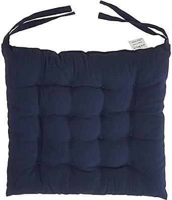 Cojines para sillas de algodón 100% con lazos (juego de 12 ...