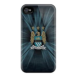 Perfect Cell-phone Hard Covers For Iphone 6 With Unique Design Realistic The Famous Logo Of Manchester City Image JoanneOickle