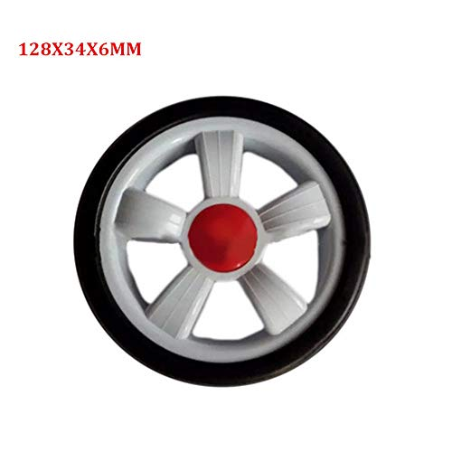 JayCreer Universal 1PCS Baby Stroller Replacement Parts Stroller Wheels Universal Front Rear Wheel Diameter 128mm Width 34mm Hole 6mm (128X34X6MM)