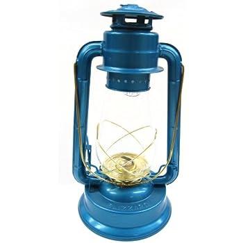 Dietz #80 Blizzard Brass Trim Oil Lantern, Blue