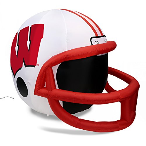 NCAA Wisconsin Badgers Team Inflatable Lawn Helmet, White, One Size (Team Badgers Helmet Wisconsin)
