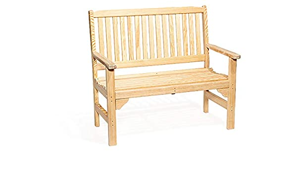 Wooden Garden Bench 2 Seater Pressure Treated Solid Bench