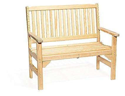 Amazon Com Lancaster S Best Amish Bench 4 Foot Wooden Outdoor