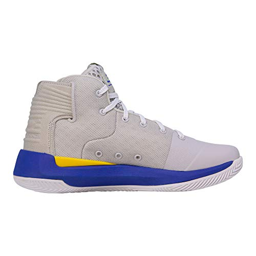 Under Armour Kids Boys UA GS Curry 3ZERO Basketball (Grey/Taxi/Royal Blue, 5.5 M US Big Kid) by Under Armour (Image #3)