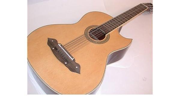 Rossetti, 1183 Nat, bajo sexto acústica guitarra eléctrica estilo mexicano, Natural: Amazon.es: Instrumentos musicales