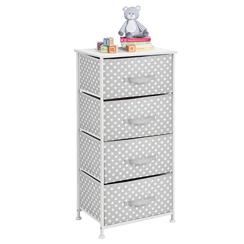 mDesign Tall Vertical Dresser Storage Tower - 4 Drawers - St