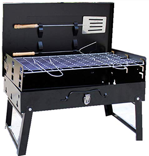 kasego Charcoal Grill Portable Barbecue Grill Folding Lightweight BBQ Grilling Tools Set for Outdoor Backyard Patio Cooking Camping Picnic Hiking, 18-Inch - Light Charcoal Bbq