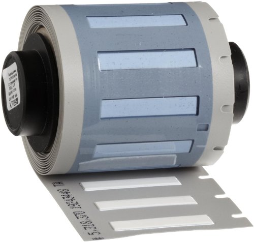 Brady PSPT-094-1-WT TLS 2200 And TLS PC Link 0.182'' Height, 1.015'' Width, B-342 Heat-Shrink Polyolefin White Color Wire Marker Sleeves (100 Per Roll) by Brady