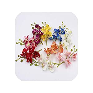 Artificial Orchid Flowers Real Touch Artificial Butterfly Orchid Flores 51