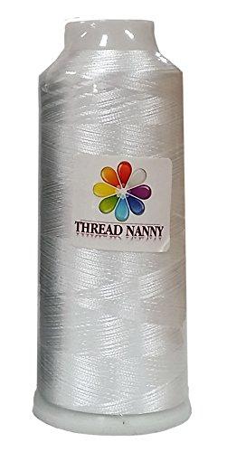 HUGE 5500yards Cone Spool Bobbin Thread White Machine Embroidery - ThreadNanny Brand