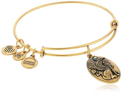 Alex and Ani Path of Symbols Sphinx Expandable Wire Bangle Charm Bracelet