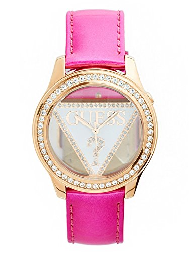 GUESS Women's Pink Logo Watch