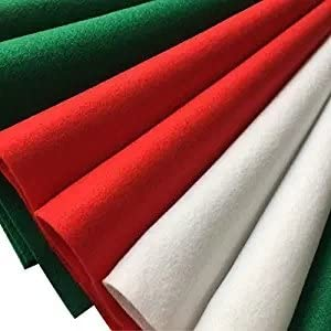 Misscrafts 30pcs 12 X 12 Inches Christmas Decorating Felt Squares Soft Christmas Felt Sheets Christmas Felt Arts and Crafts Felt Fat Quarters DIY Sewing Nonwoven Patchwork Wool Blended Felt