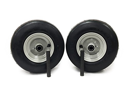 - MowerPartsGroup (2) Gravely Ariens Pneumatic Wheel Assemblies 11x4.00-5 Light Gray ZT XL, Zoom