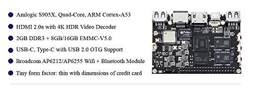 Khadas VIM1 Basic Quad Core ARM Development Board with Amlogic S905X Open  Source DDR3 2GB+8GB+DIY Case