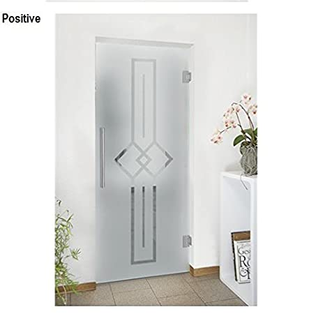 Amazon Swing Pivot Hinged Tempered Glass Door Frosted