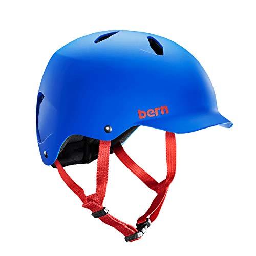 Kids Helmet Visor - BERN - Summer Bandito EPS Helmet, Matte Cobalt Blue, S/M