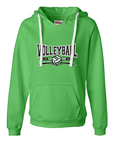 Go All Out Large Lime Womens Volleyball Cool Design Deluxe Soft ()