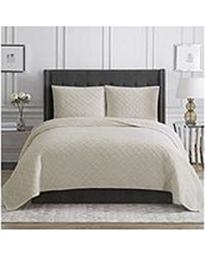 Christian Siriano Luxury 3 Pc King Bedding Set in Cream