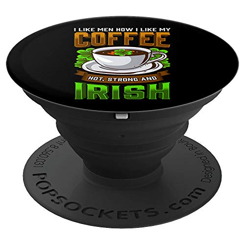 St. Patricks Day Design Funny Women Coffee Irish - PopSockets Grip and Stand for Phones and Tablets