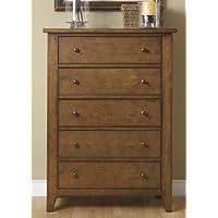 Liberty Furniture Hearthstone Bedroom 5-Drawer Chest, Rustic Oak Finish