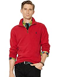 Men's Half Zip French Rib Cotton Sweater (XX-Large,...