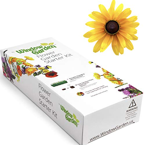 (Garden Starter Kit (Brown Eyed Susan) Grow a Garden by Seed. Germinate Seeds on Your Windowsill Then Move to a Patio Planter or Flower Patch. Mini Greenhouse System Makes it Foolproof, Easy and Fun.)