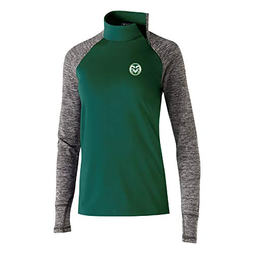 (Ouray Sportswear NCAA Colorado State Rams Women's Affirm Pullover Jacket, X-Large, Forest/Carbon Heather)