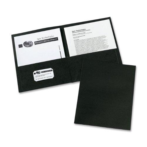 Avery Two Pocket Folders Black 47988
