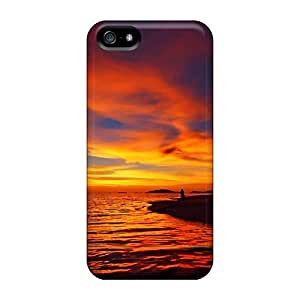GbODZeh8825jlUjW Case Cover Ripple Sky Iphone 5/5s Protective Case