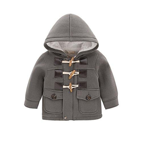 Jinru01 Fashion winter children kids baby boys infant outerwear coat baby kids boys jacket coat 2-6Years Grey 5t