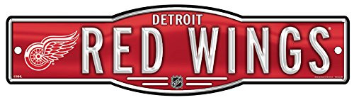 NHL Detroit Red Wings 4''x17'' inch Plastic Street Sign WinCraft