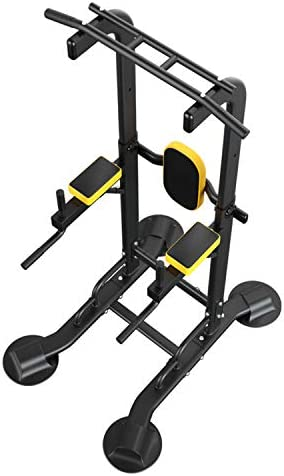 Diophros Power Tower Pull Up Bar, Adjustable Height Pull Up & Dip Station Multi-Function Home Gym Strength Training Fitness Workout Station (Dip Stand)