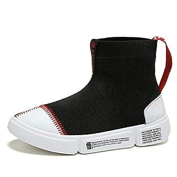 Liuxc Zapatos de mujer Botas Casuales Tejidas Calcetines elásticos Zapatos de Punto Viejos Top-Top
