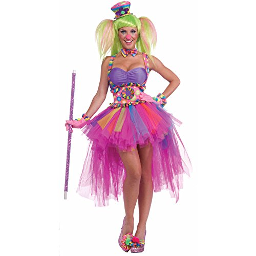 [Forum Circus Sweeties Tutu Lulu The Clown Costume, Pink, Standard] (Circus Sweetie Wig)