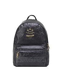 Artone Vintage Waterproof Tearproof Kraft Paper Backpack School Daypack Fit Ipad Black