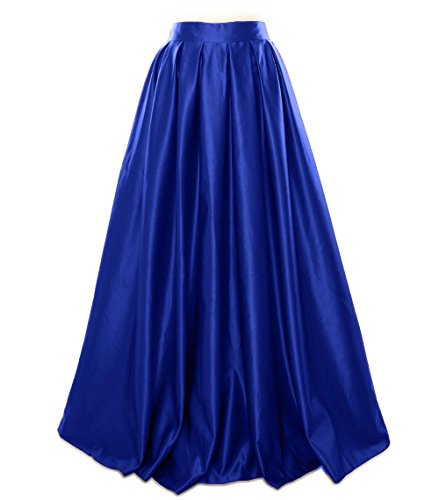 Blue Dress MACloth Women Royal Evening Long Party Formal Prom Skirt Satin AwF1v0qwS