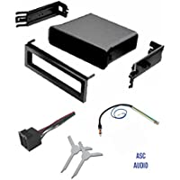 ASC Audio Car Stereo Dash Pocket Kit, Wire Harness, Antenna Adapter, and Radio Removal Tool for installing a Single Din Radio for VW Volkswagen- 1999 2000 2001 Golf / GTI, Jetta, Passat