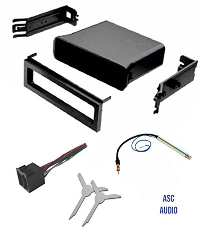 Volkswagen Car Stereo Installation (ASC Audio Car Stereo Dash Pocket Kit, Wire Harness, Antenna Adapter, and Radio Removal Tool for installing a Single Din Radio for VW Volkswagen- 1999 2000 2001 Golf / GTI, Jetta, Passat)