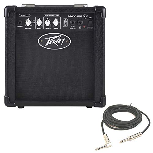Peavey MAX 126 Combo Amp 10W 6.5'' Bass Guitar Amplifier & 1/4'' Instrument Cable by Peavey