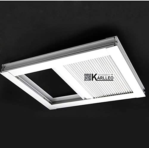 Motorized Skylight Roof Window Cellular Honeycomb Blackout Blinds Curtain,Website Price 1pc,Motorized Control,Size 39 W x 39 L Contact Us Customize Size,Or Manual
