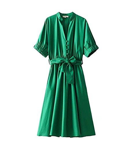 Smx Banchetto Abiti donna allentata Cocktail vita Elegante Pizzo sullaLa Vestito Sera Confortevole da Abito green Matrimoni Sottile abiti rv0rwB