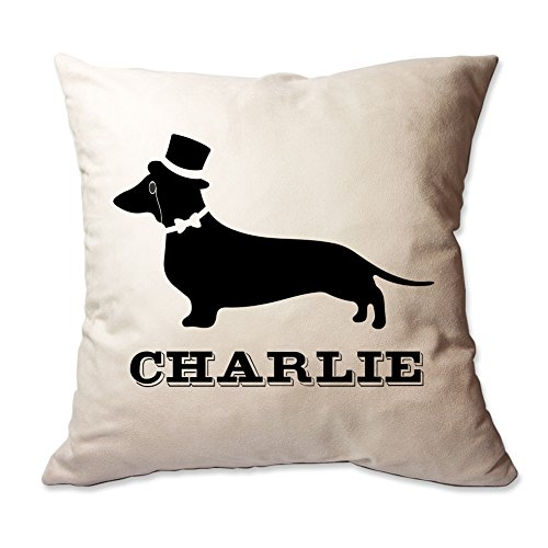 Pattern Pop Personalized Fancy Dachshund Throw Pillow